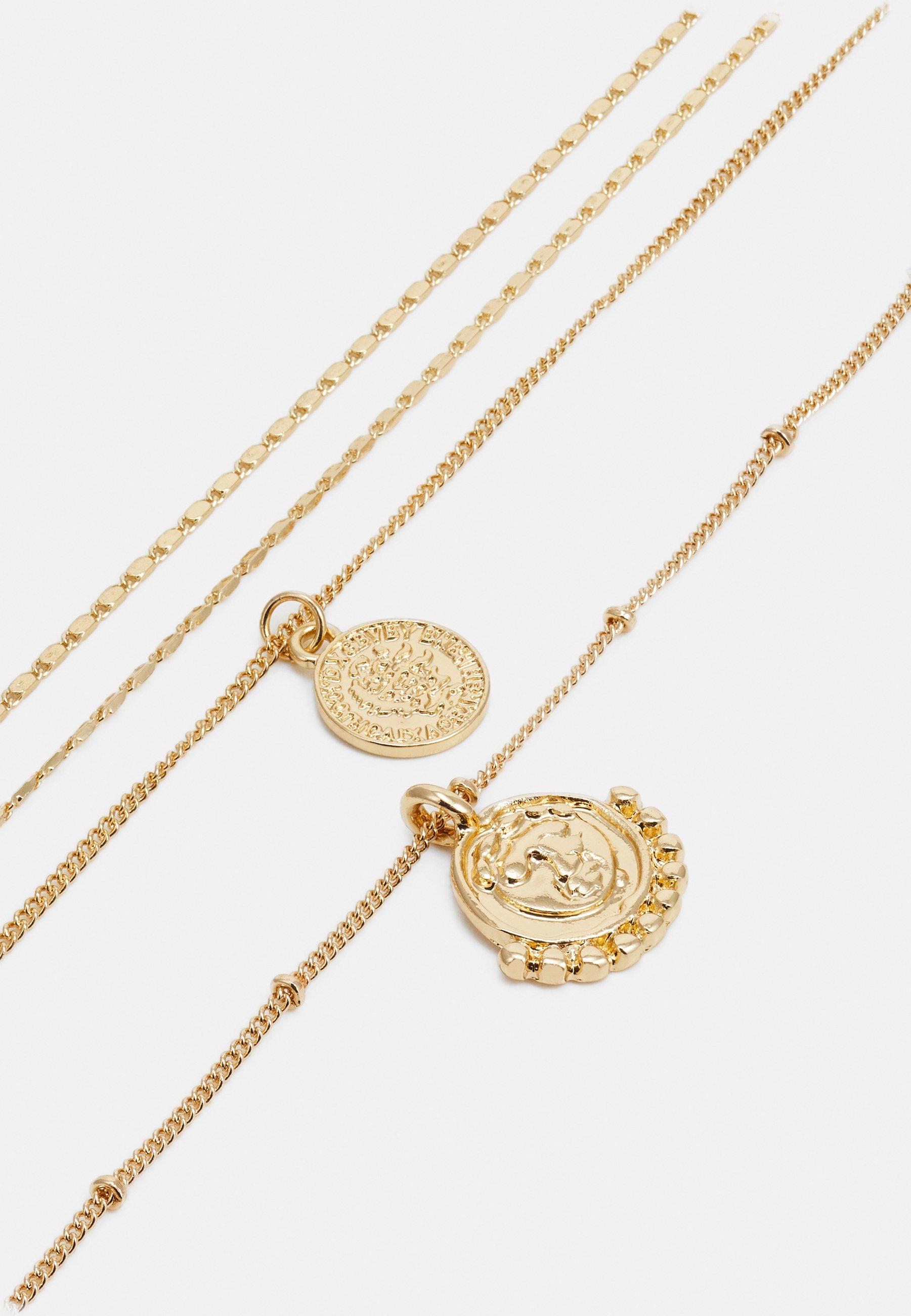 Pieces Pchollia Combi Necklace Key - Halskette Gold-coloured/goldfarben