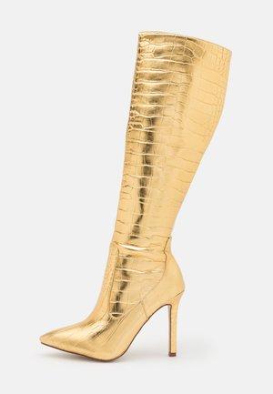 ZYDA - Boots med høye hæler - gold
