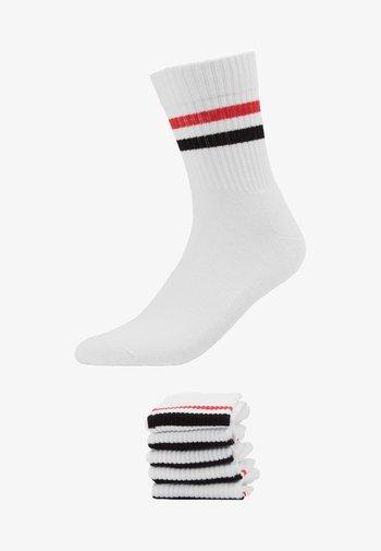 5 PACK - Socks - white/red/black