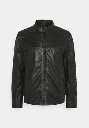 DRIVER - Leather jacket - black