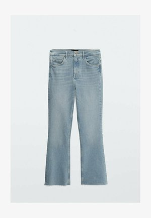 CROPPED - Jean bootcut - blue