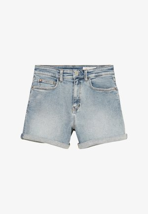 Denim shorts - multi/treated light blue