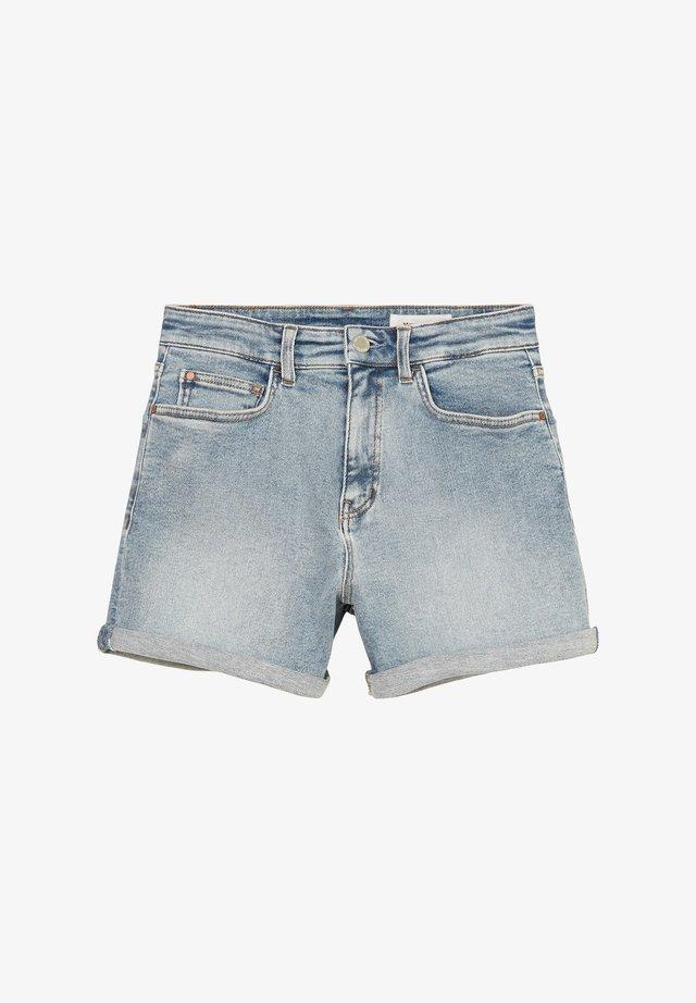 Denim shorts - multi/treated light blue
