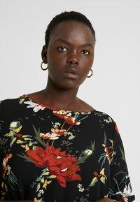 ONLY Carmakoma - CARLUXANNA KNEE DRESS - Day dress - black flower - 4