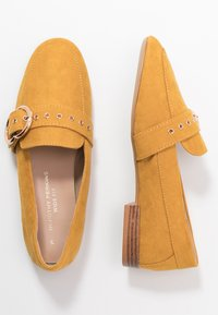 Dorothy Perkins Wide Fit - WIDE FIT LOLA BUCKLE LOAFER - Slip-ons - yellow - 3