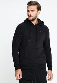 Under Armour - RIVAL HOODY - Hoodie - black/black - 0