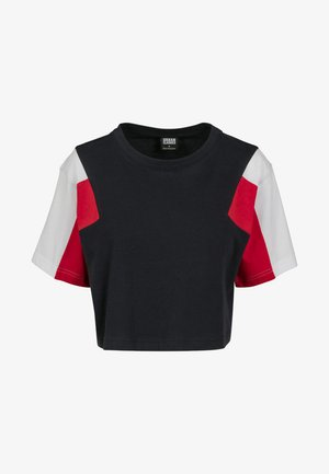 3-TONE SHORT - T-shirt imprimé - navy/white/fire red