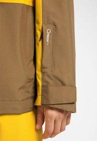 Haglöfs - LUMI JACKET - Ski jacket - pumpkin yellow/teak brown - 3