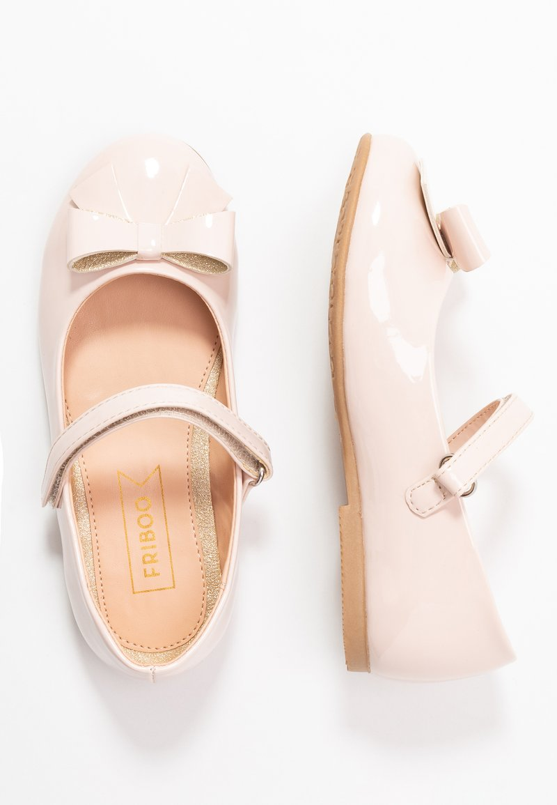 Friboo - Ankle strap ballet pumps - nude