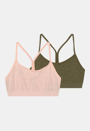 ANIMAL CROPS 2 PACK - Top - light pink