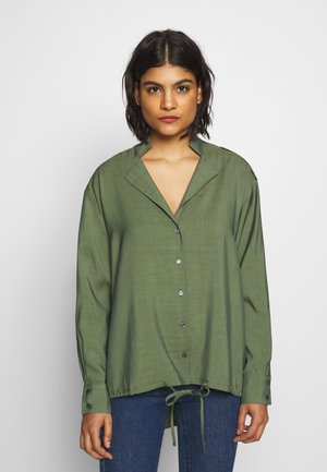 HENTY - Button-down blouse - army green