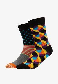Happy Socks - OPTIC SQUARE/STRIPE AND DOT 2 PACK - Socks - multi - 1