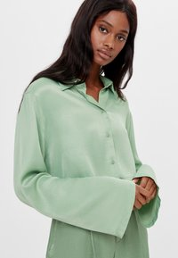Bershka - Button-down blouse - green - 3