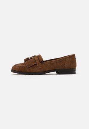 LEATHER - Slip-ons - brown