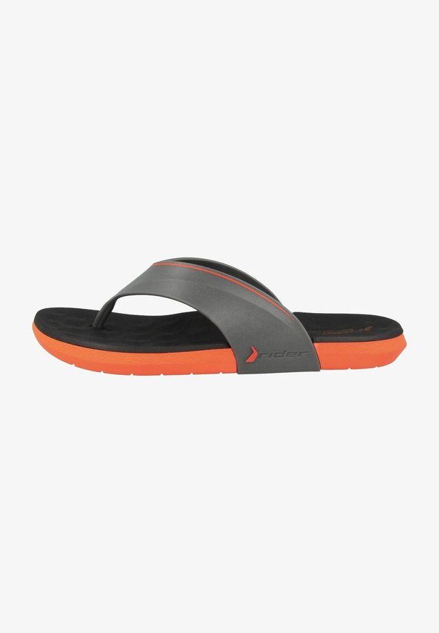 INFINITY IV THONG AD - Sandaler m/ tåsplit - orange/grey