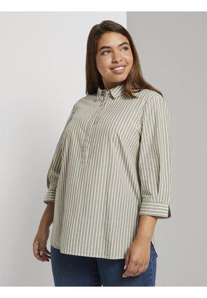 Tunic - whisper wood stripe vertical