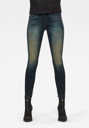 LYNN MID SKINNY RIPPED ANKLE  - Jeans Skinny Fit - antic blight green