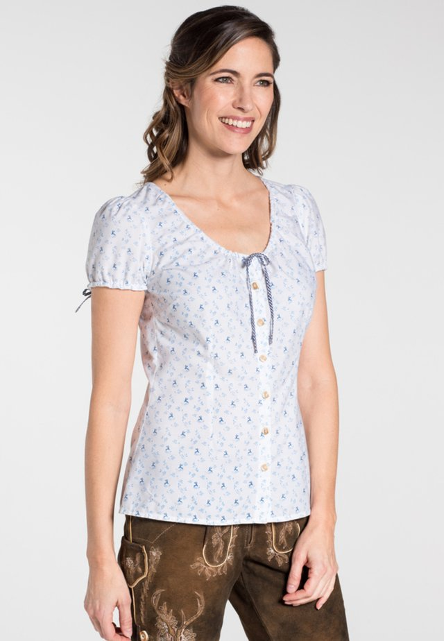 KAMIN - Blouse - white/dark blue
