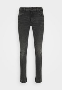 ONSLOOM SLIM BLACK DAMAGE WASH - Slim fit jeans - black denim