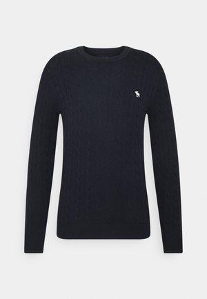 CORE ICON CABLE CREW  - Sweatshirt - navy