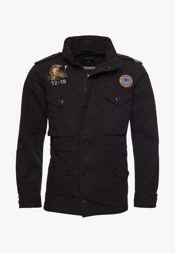 Summer jacket - washed black