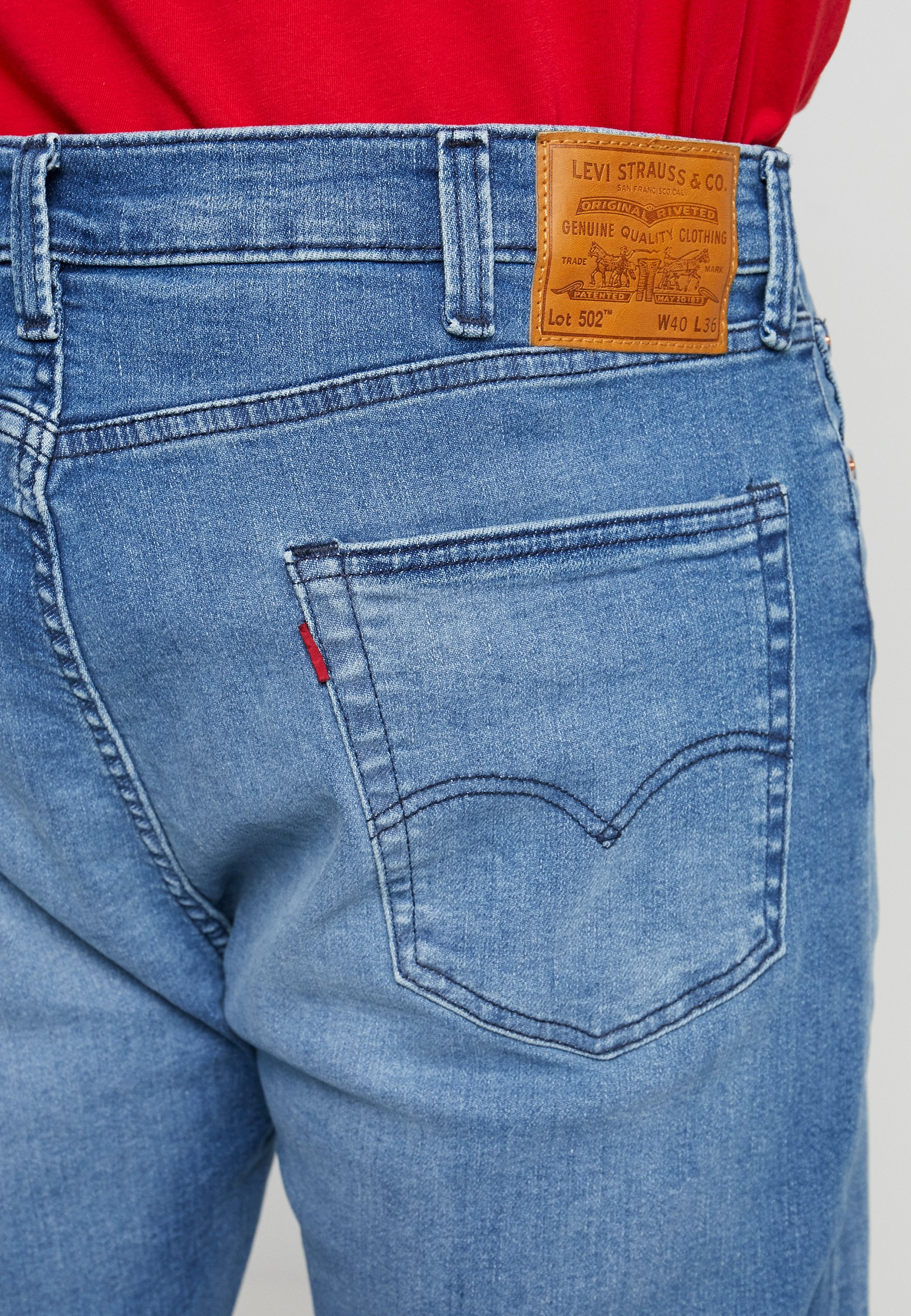Levi's® Plus 502™ REGULAR TAPER - Jean droit - light-blue denim