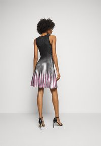 Milly - GODET STRIPE FIT AND FLARE - Cocktail dress / Party dress - black/multi - 2