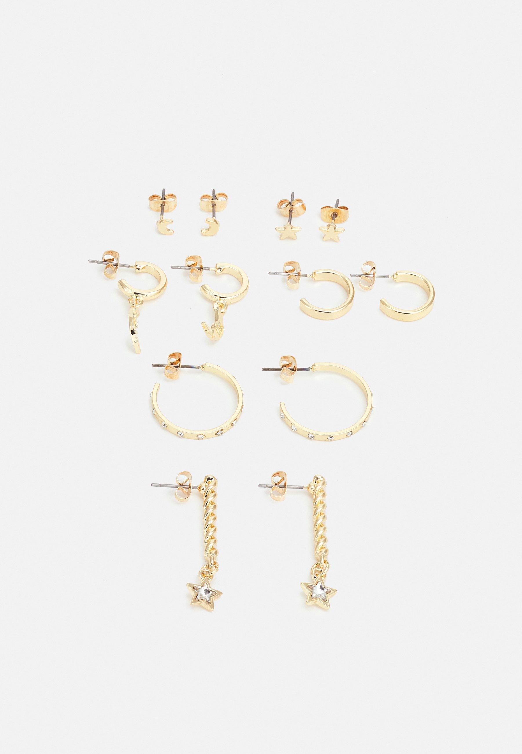 Women PCSTARRY EARRINGS 6 PACK - Earrings