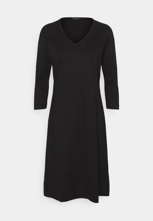 DRESS LONG SLEEVE VNECK - Žerzejové šaty - black