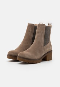 Tamaris - BOOTS - Platform ankle boots - taupe - 2
