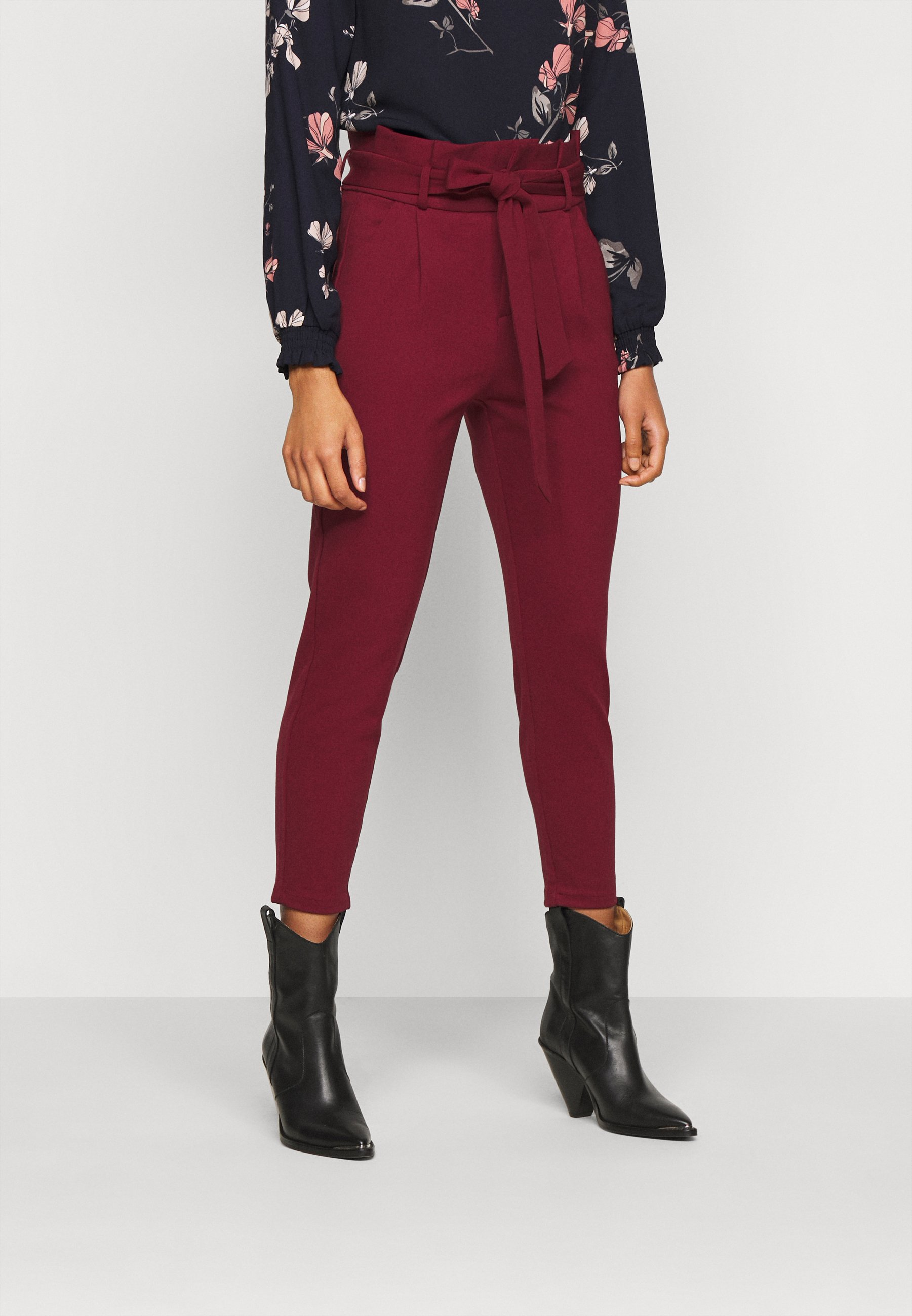 Femme VMEVA LOOSE PAPERBAG PANT - Pantalon classique