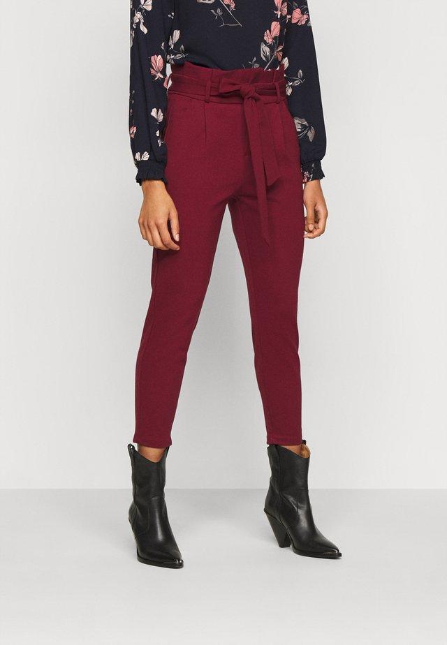 VMEVA LOOSE PAPERBAG PANT - Pantalon classique - cabernet