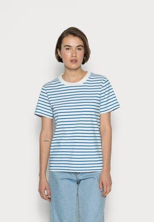 TEE - Print T-shirt - marshmallow/ruisseau