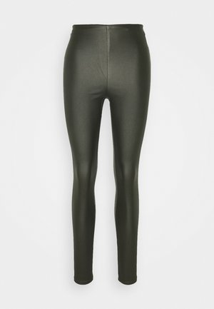 VICOMMIT COATED PLAIN - Leggings - forest night