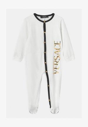 TUTINA UNISEX - Jumpsuit - bianco/nero/oro