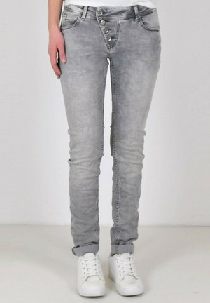 Straight leg jeans - light grey