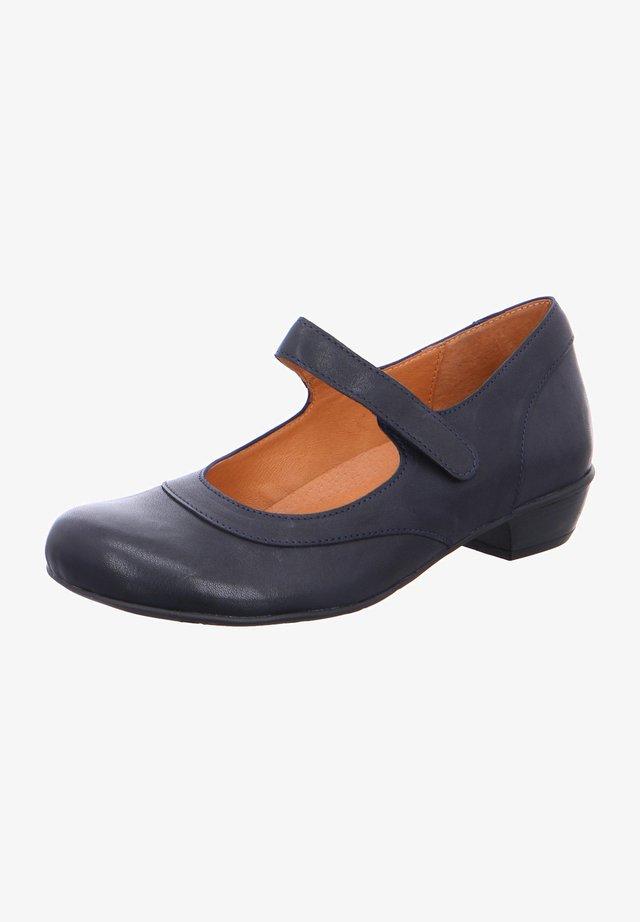 BEM - Ankle strap ballet pumps - blau