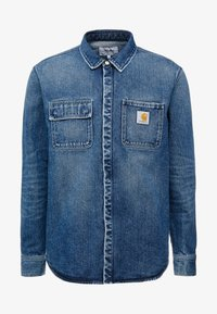 blue mid worn wash