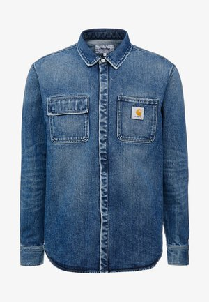 SALINAC MAITLAND - Shirt - blue mid worn wash