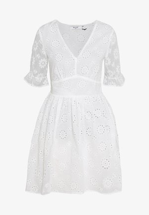 BIG FLOWER ANGLAISE  - Day dress - white