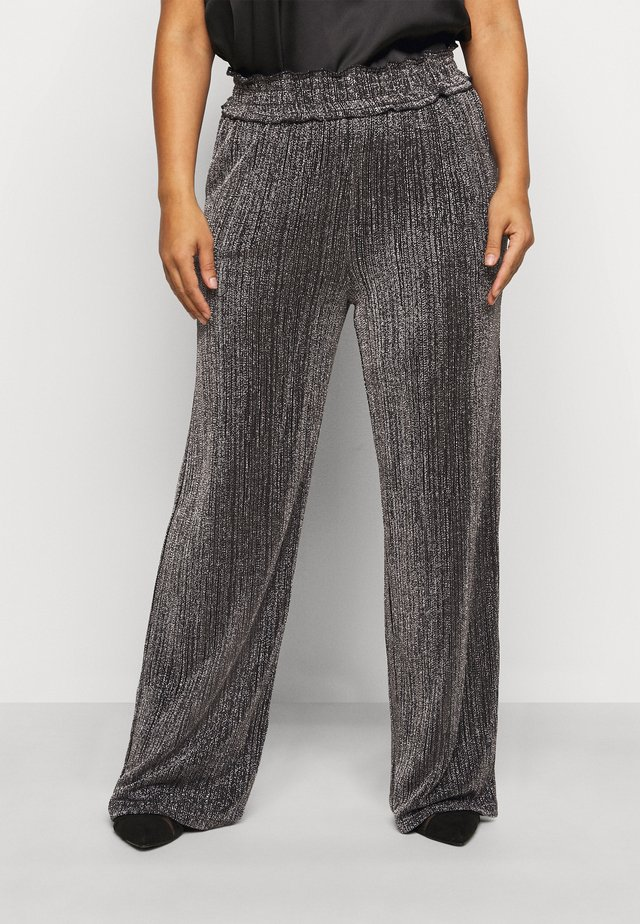 VMKAIDACOCO WIDE PANT - Pantaloni - black/silver