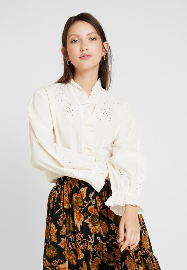 DAISY - Button-down blouse - ecru