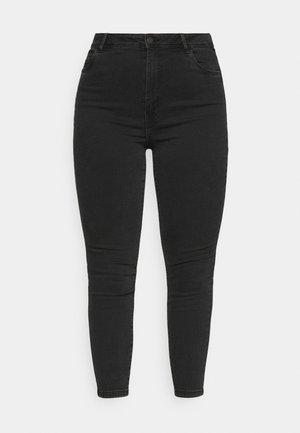 NMAGNES SKINNY JEANS  - Jeans Skinny Fit - black denim