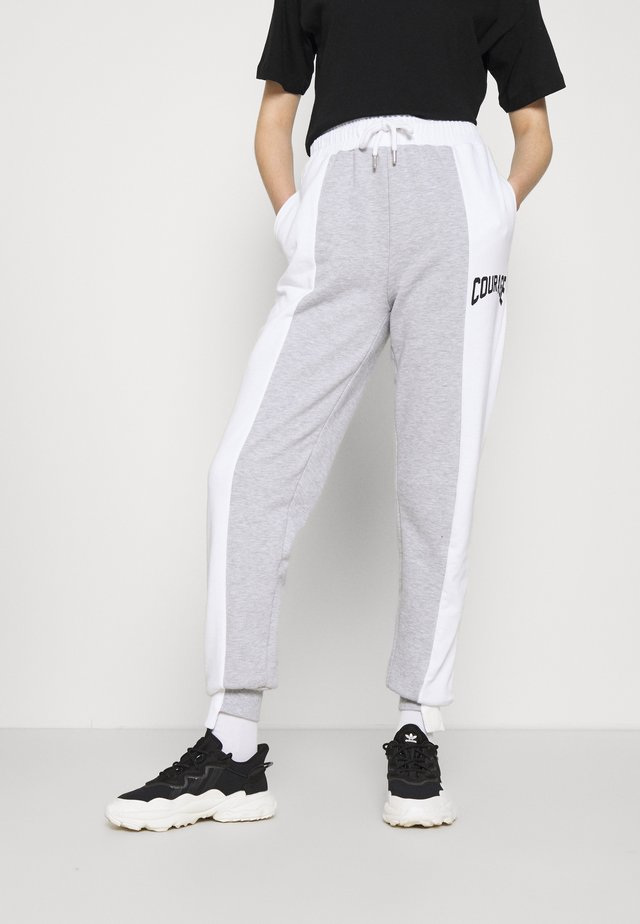 SPLICED COURAGE JOGGER - Pantaloni sportivi - monochrome