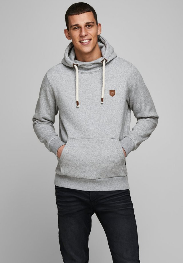 JPRBLUTOM HIGH NECK HOOD  - Hoodie - light grey melange