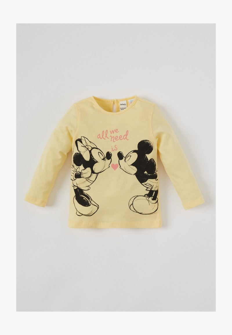 DeFacto - Long sleeved top - yellow