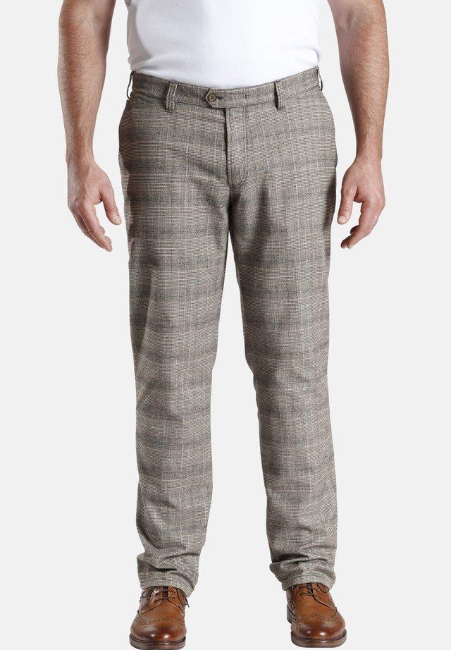 BARON IRVIN - Trousers - braun kariert