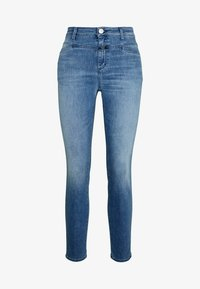 CLOSED - SKINNY PUSHER HIGH WAIST CROPPED LENGTH - Jeans Skinny Fit - mid blue - 4