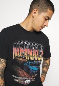Mennace - WASHED PETROL RACE  - T-shirt imprimé - black - 3