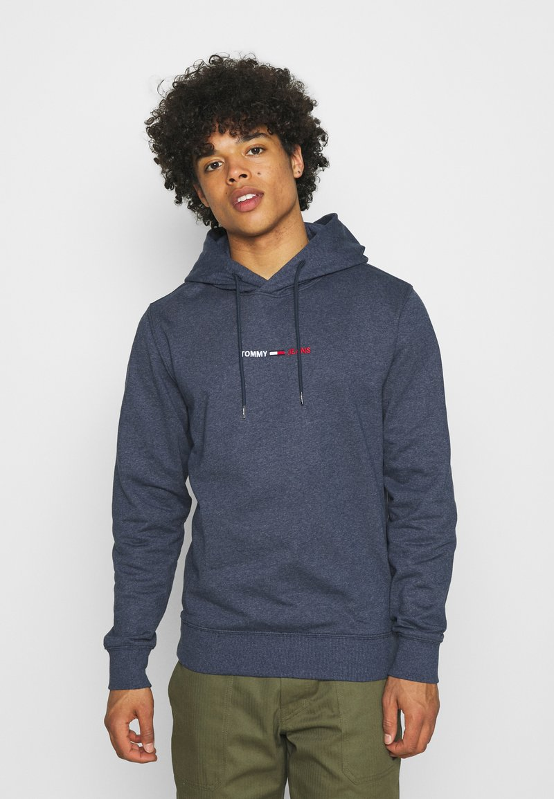 Tommy Jeans - STRAIGHT LOGO HOODIE - Mikina - blue